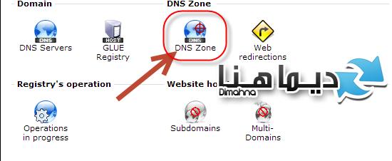 دخل على DNS ZONE